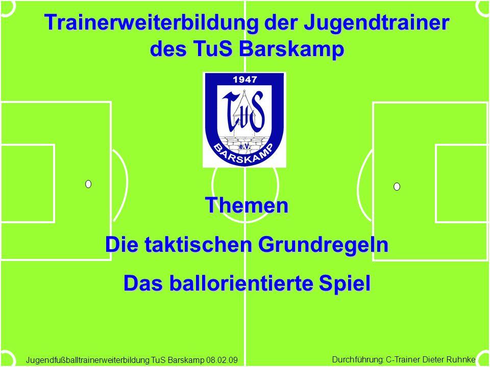 Trainerweiterbildung der Jugendtrainer des TuS Barskamp