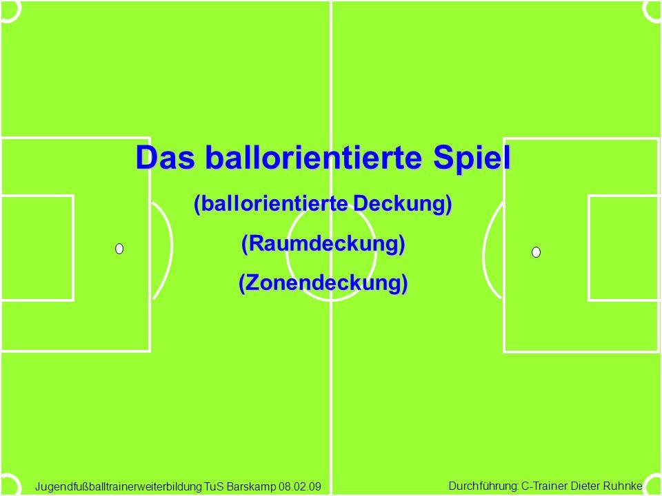 Das ballorientierte Spiel (ballorientierte Deckung)