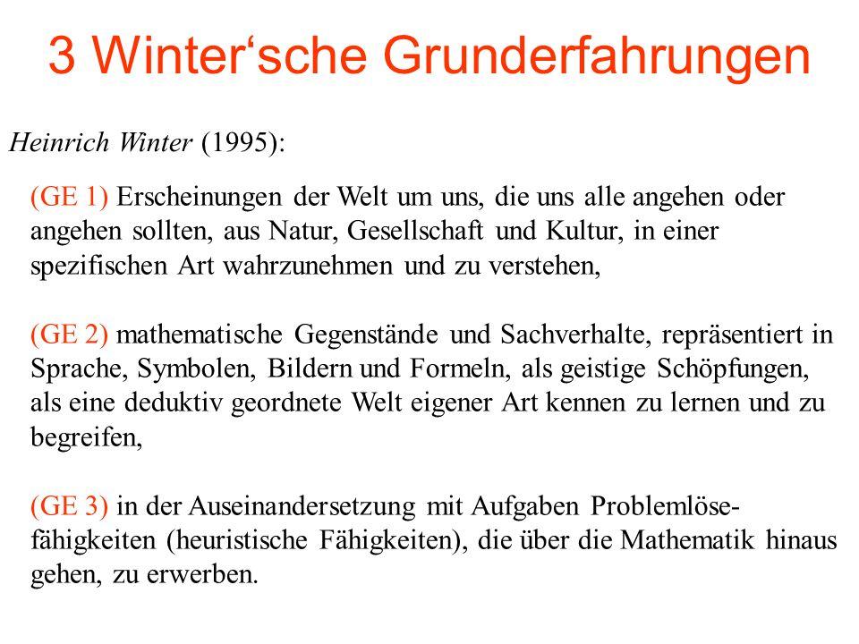 3 Winter'sche Grunderfahrungen