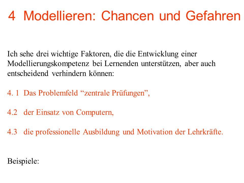 4 Modellieren: Chancen und Gefahren