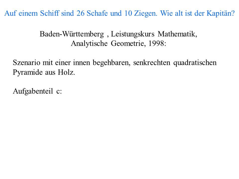 Baden-Württemberg , Leistungskurs Mathematik,