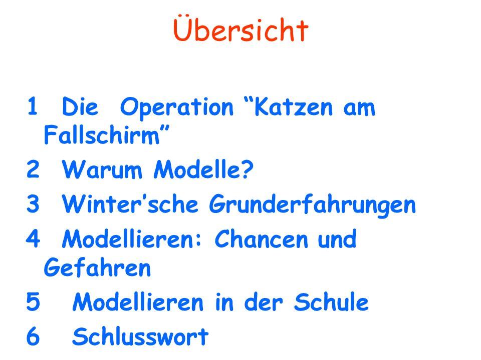 Übersicht 1 Die Operation Katzen am Fallschirm 2 Warum Modelle