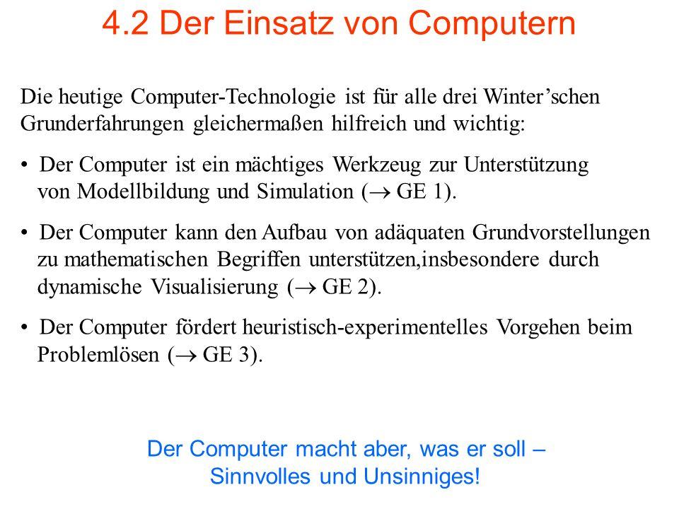 4.2 Der Einsatz von Computern