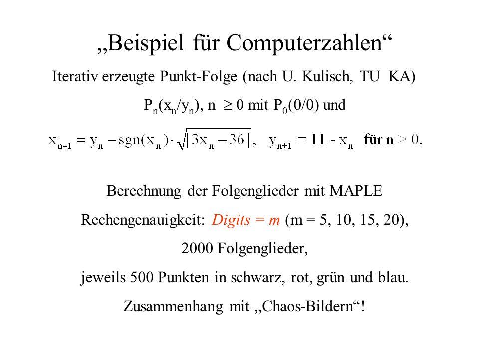 """""""Beispiel für Computerzahlen"""