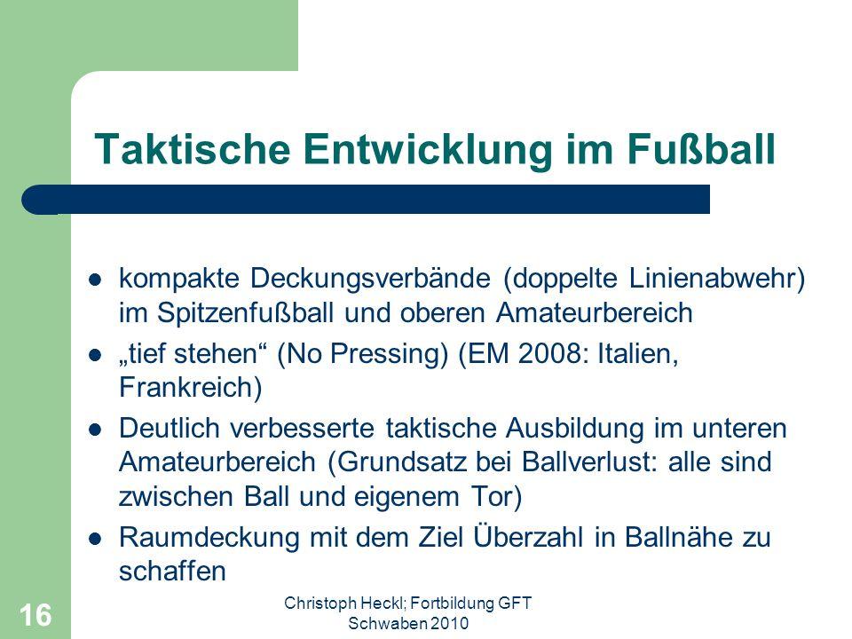 Taktische Entwicklung im Fußball