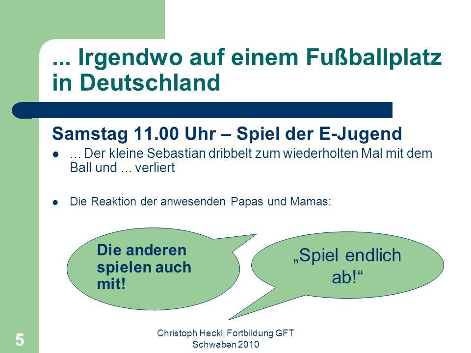 ... Irgendwo auf einem Fußballplatz in Deutschland