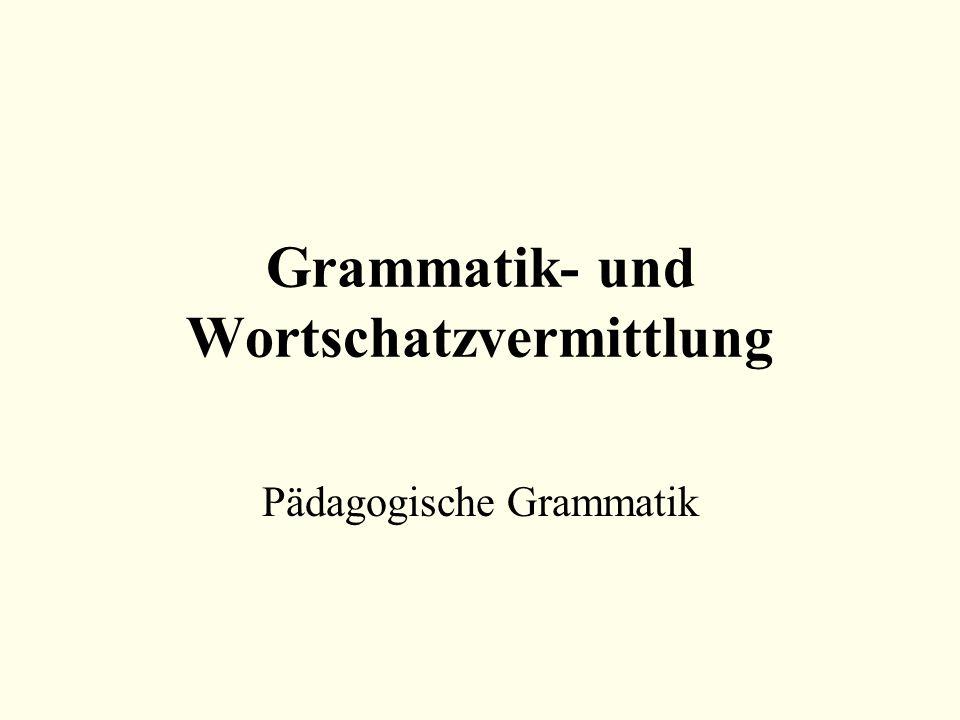 Grammatik- und Wortschatzvermittlung