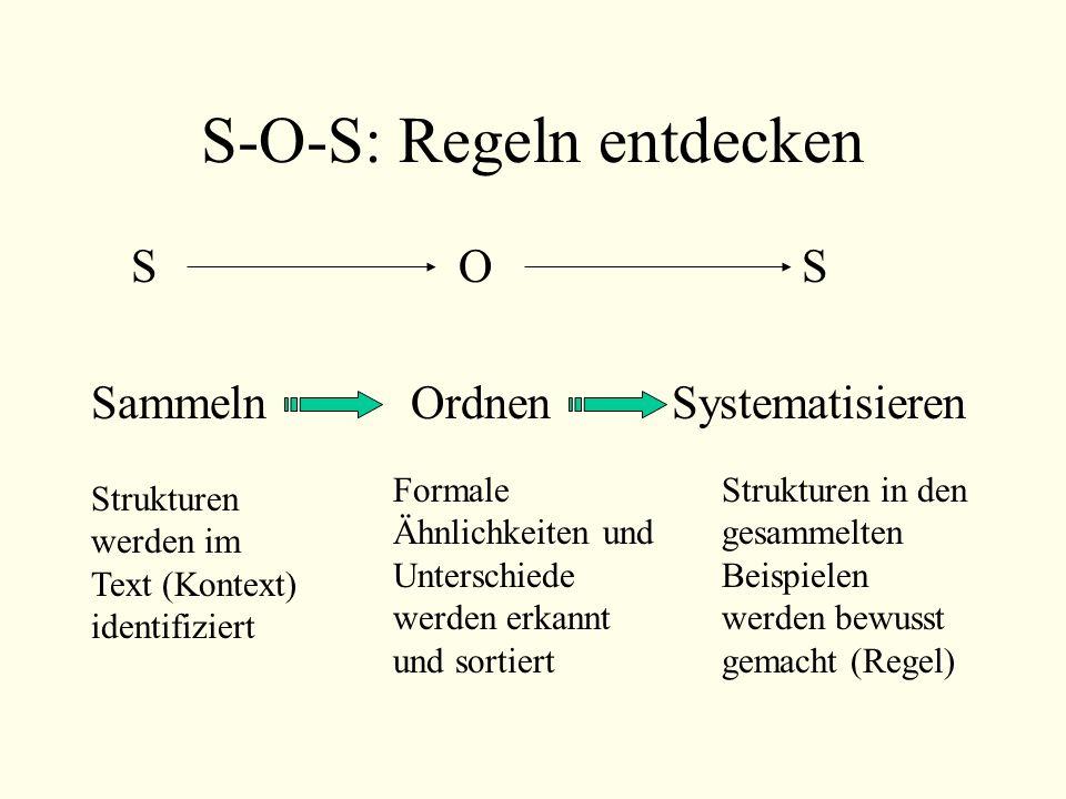 S-O-S: Regeln entdecken