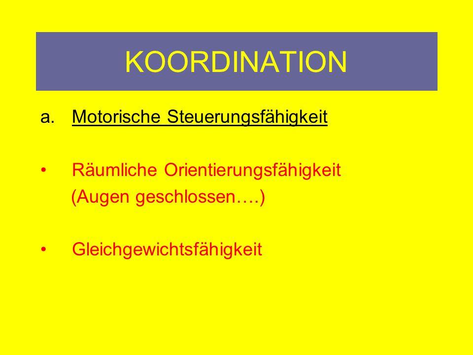 KOORDINATION Motorische Steuerungsfähigkeit