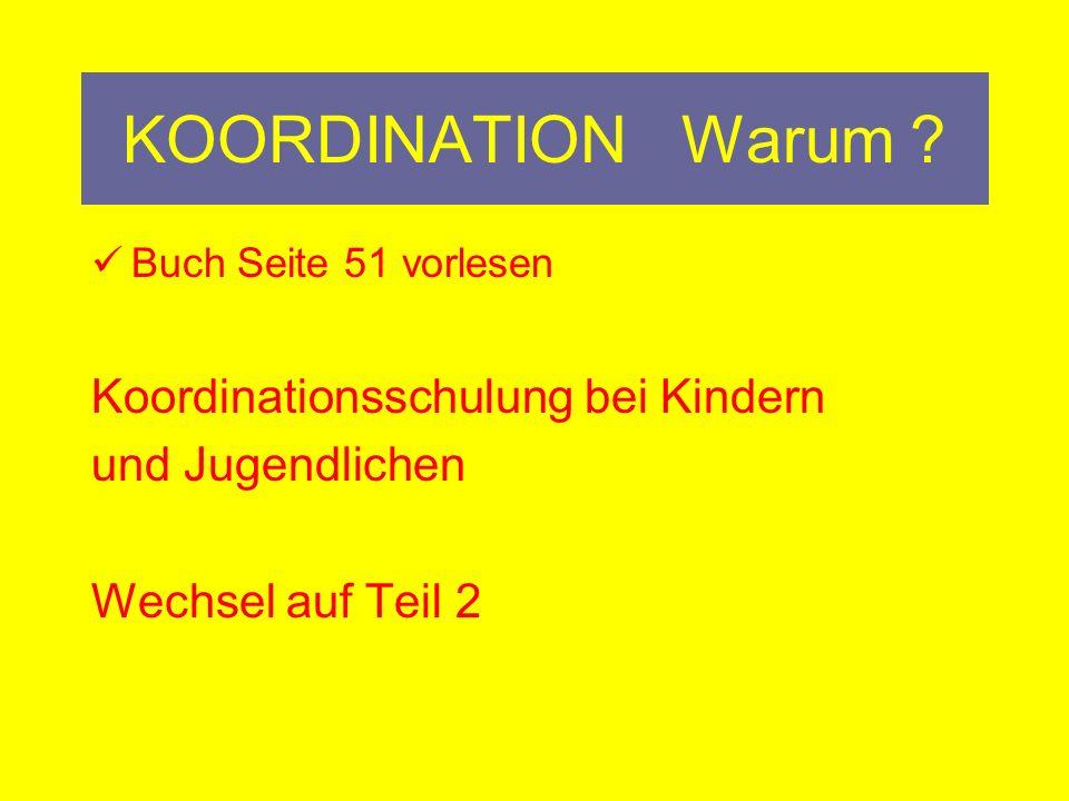 KOORDINATION Warum Koordinationsschulung bei Kindern