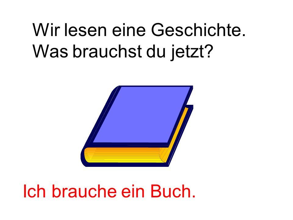 Wir lesen eine Geschichte.
