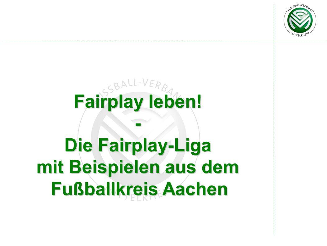 mit Beispielen aus dem Fußballkreis Aachen