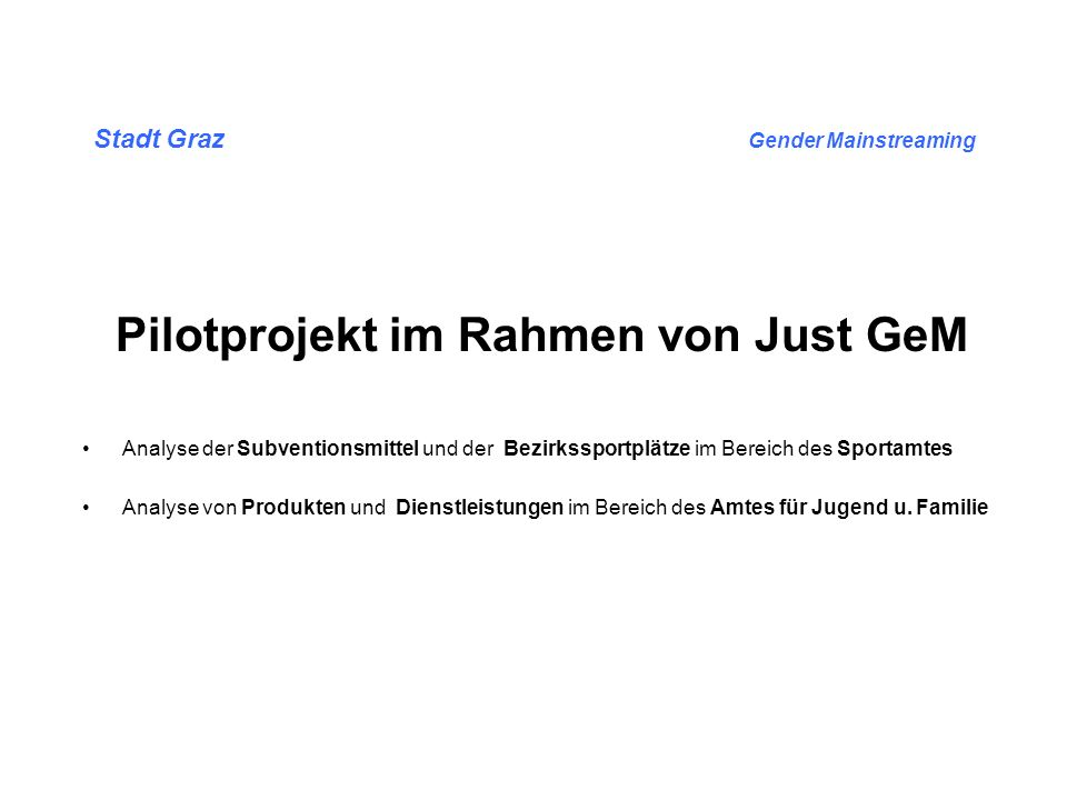 Stadt Graz Gender Mainstreaming