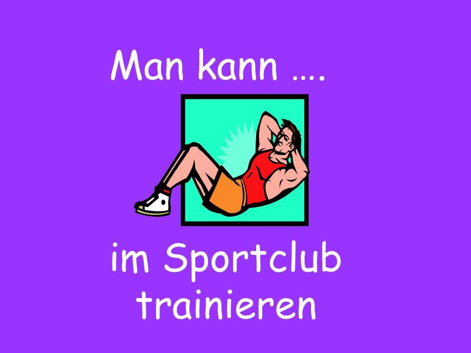 im Sportclub trainieren