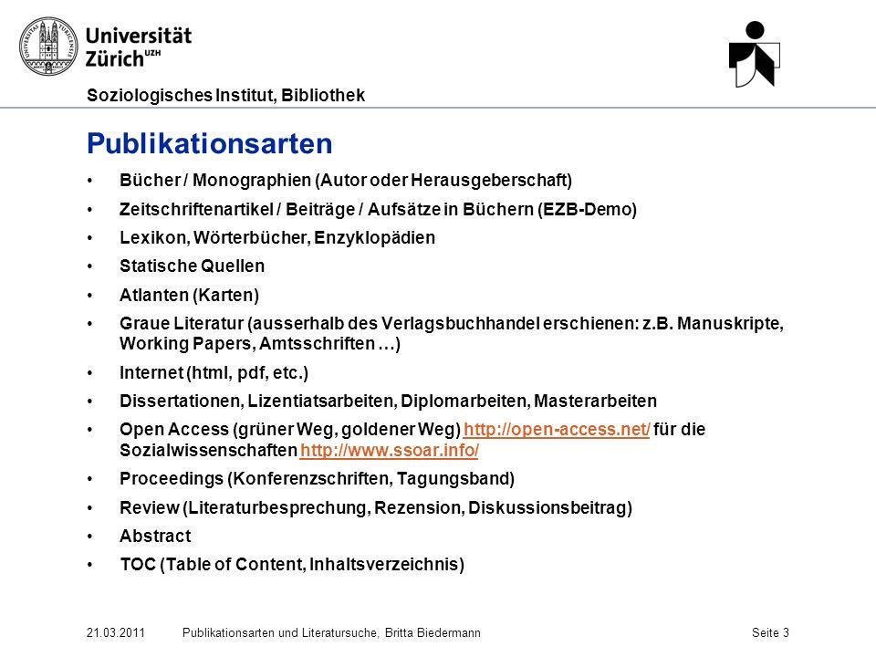 Publikationsarten Bücher / Monographien (Autor oder Herausgeberschaft)