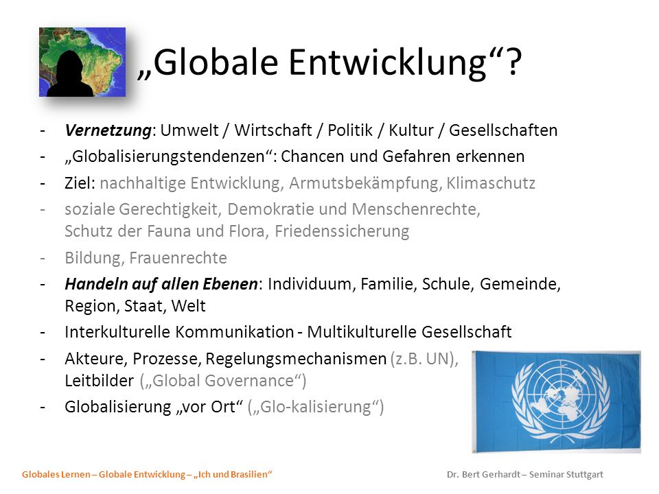 """Globale Entwicklung"