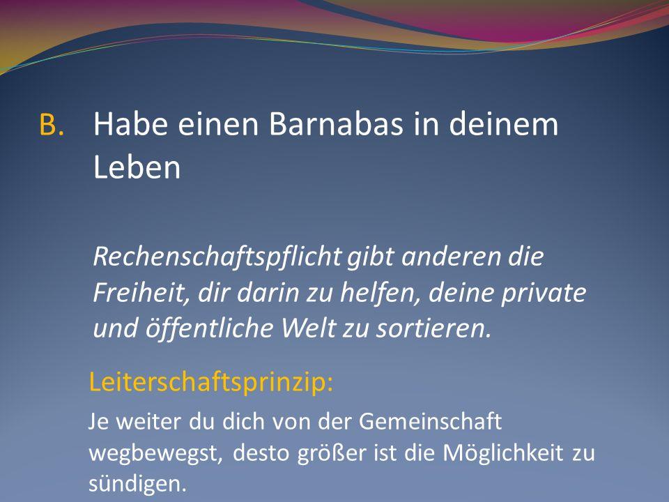 Habe einen Barnabas in deinem Leben