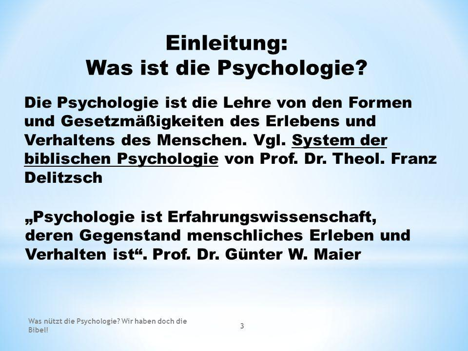 Was ist die Psychologie