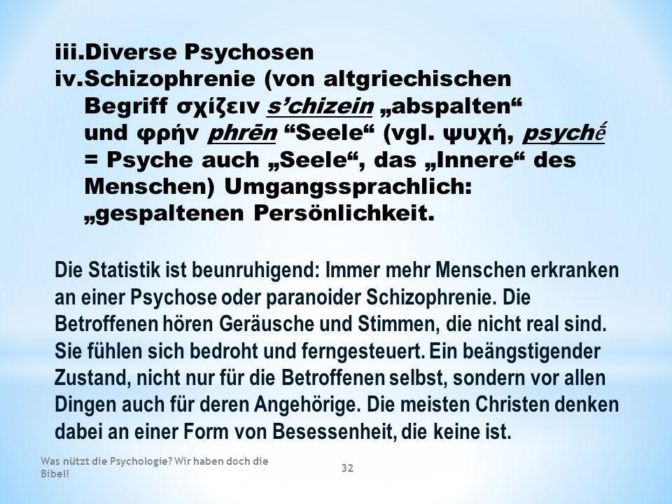 Diverse Psychosen