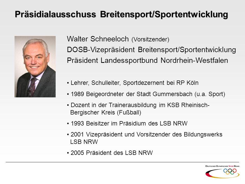 Präsidialausschuss Breitensport/Sportentwicklung