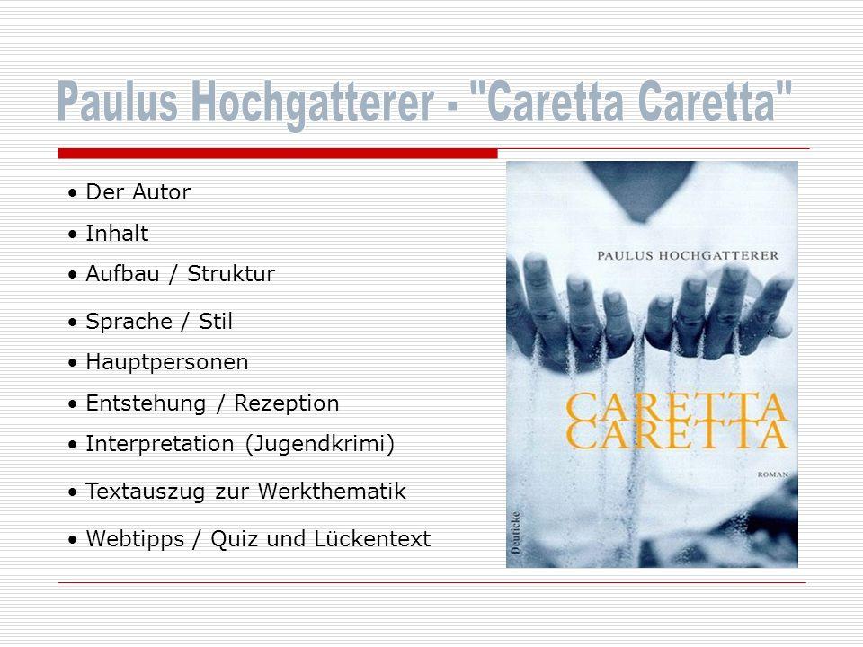 Paulus Hochgatterer - Caretta Caretta