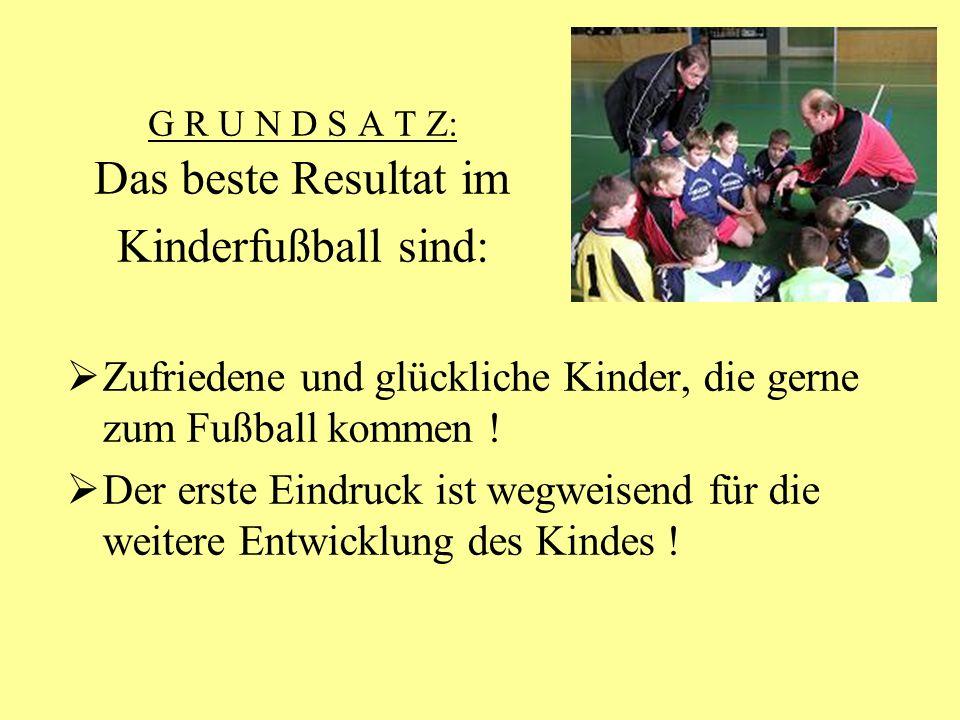 G R U N D S A T Z: Das beste Resultat im Kinderfußball sind: