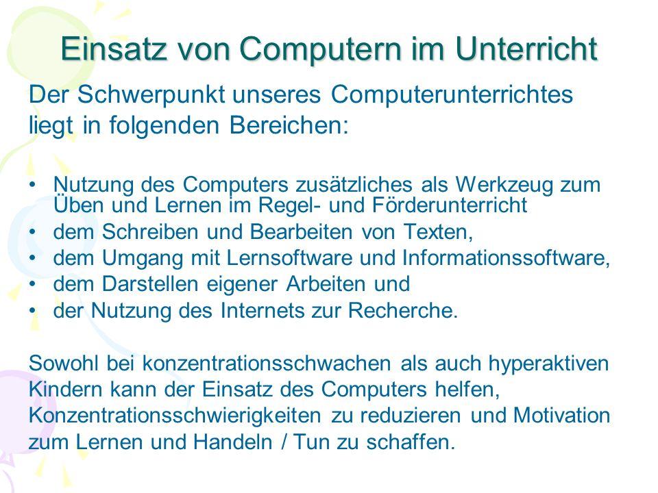 Einsatz von Computern im Unterricht