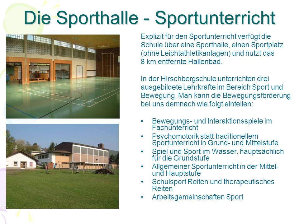 Die Sporthalle - Sportunterricht