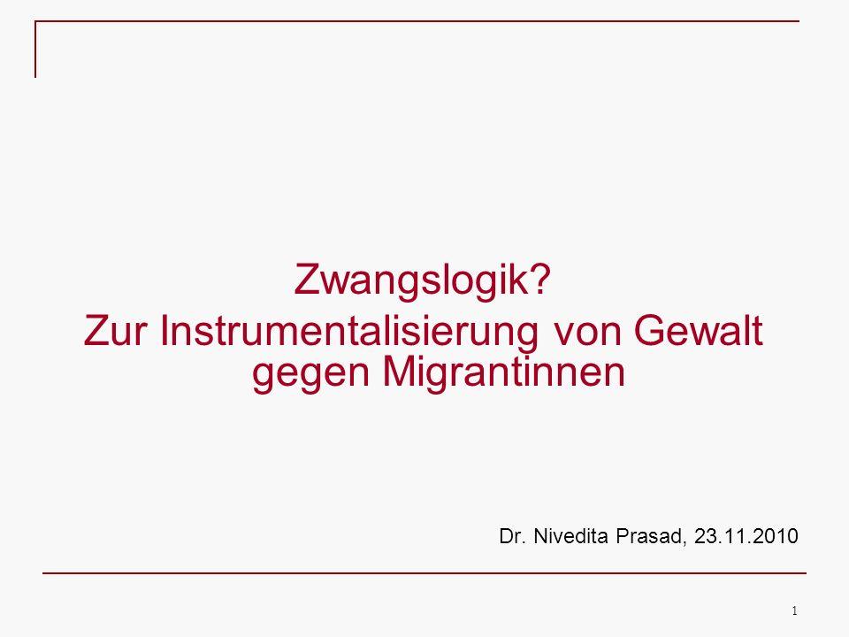 Zur Instrumentalisierung von Gewalt gegen Migrantinnen