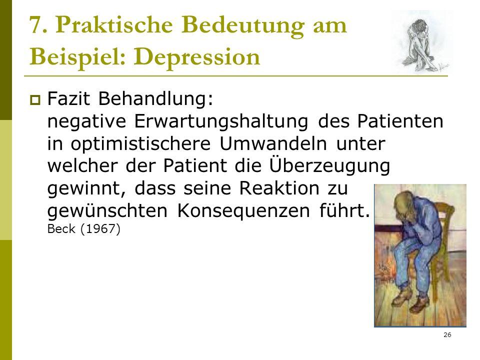 7. Praktische Bedeutung am Beispiel: Depression
