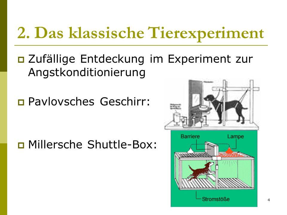 2. Das klassische Tierexperiment