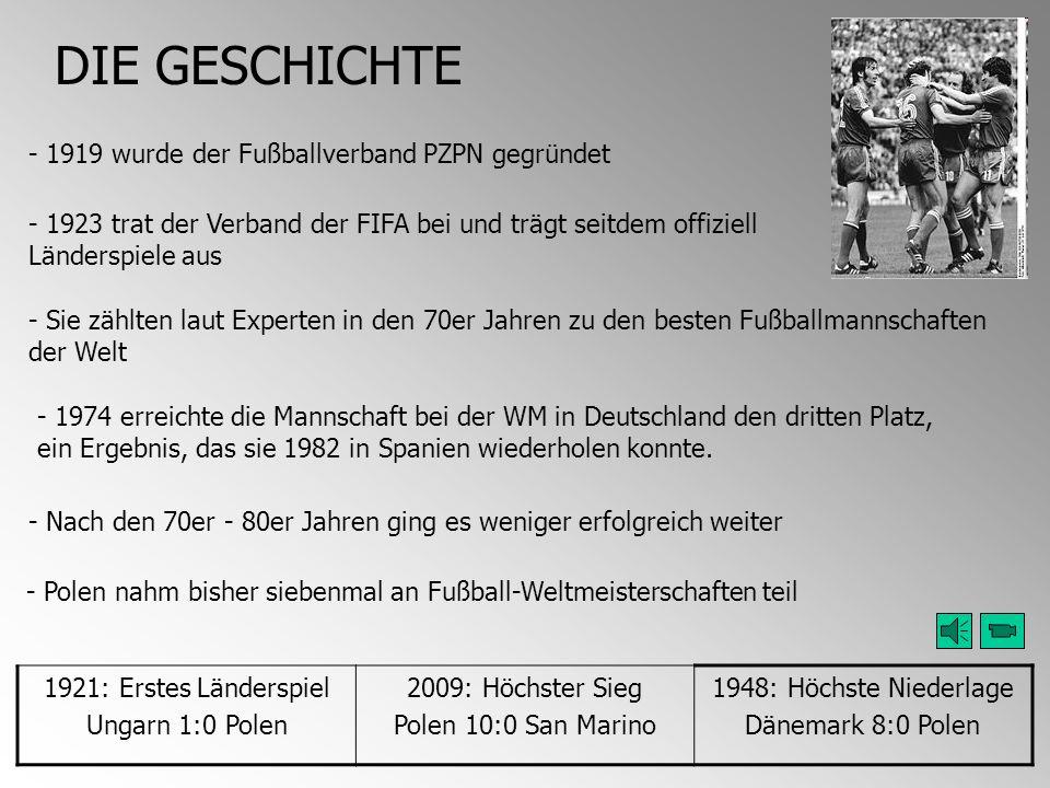 DIE GESCHICHTE - 1919 wurde der Fußballverband PZPN gegründet