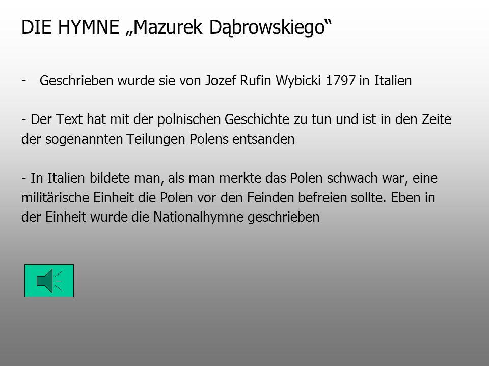 """DIE HYMNE """"Mazurek Dąbrowskiego"""