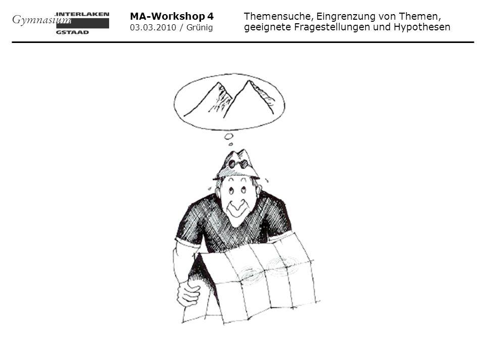 MA-Workshop 4 Themensuche, Eingrenzung von Themen,