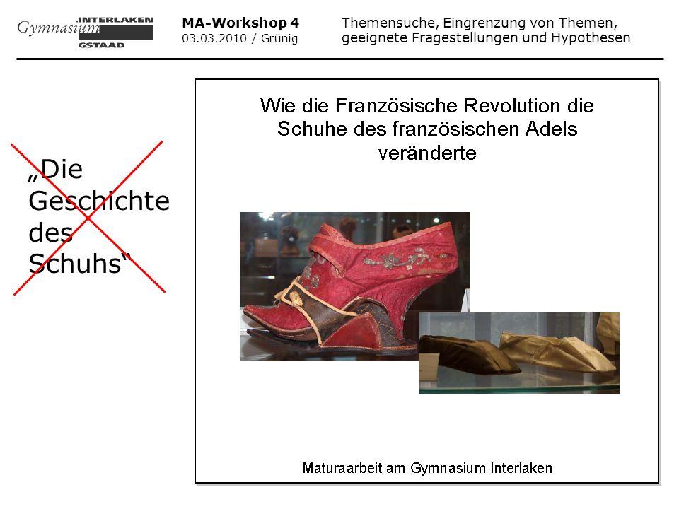 """""""Die Geschichte des Schuhs"""