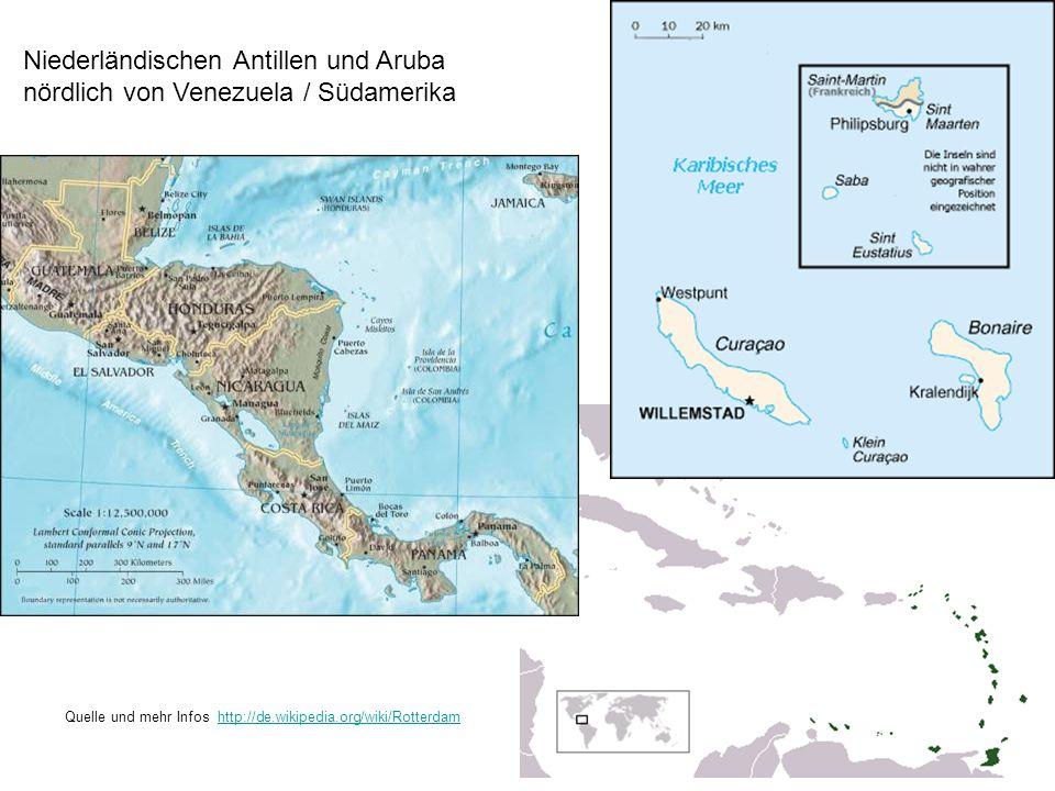 Niederländischen Antillen und Aruba nördlich von Venezuela / Südamerika