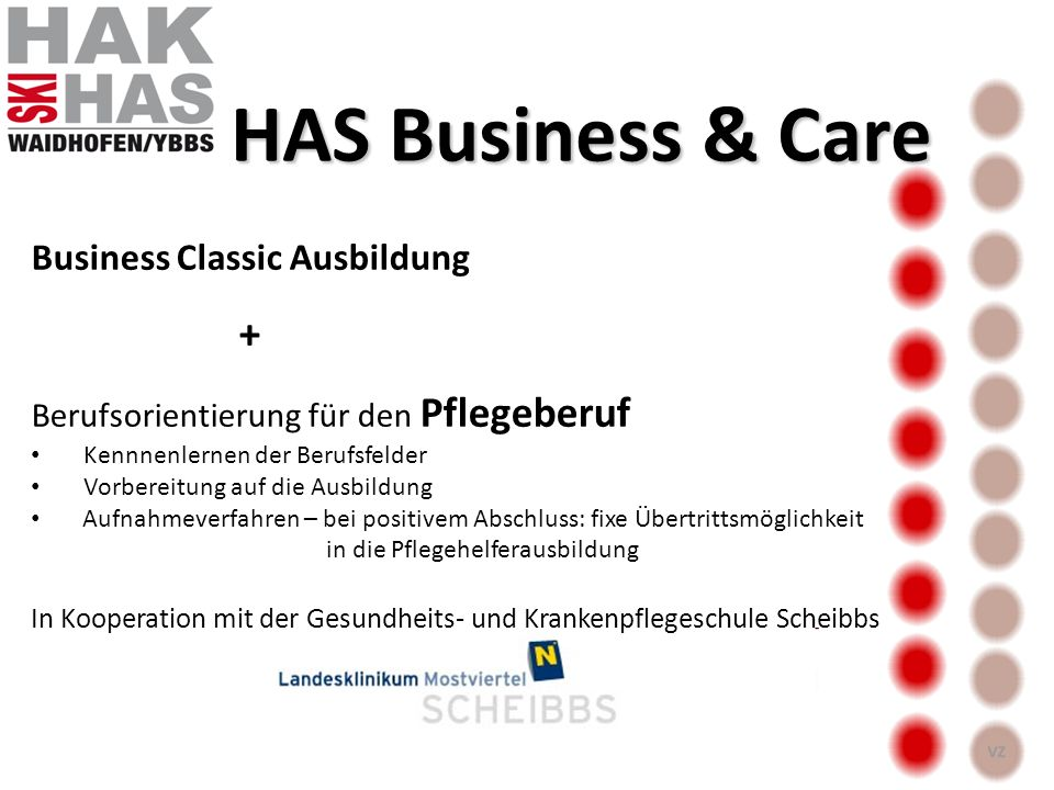 HAS Business & Care + Business Classic Ausbildung