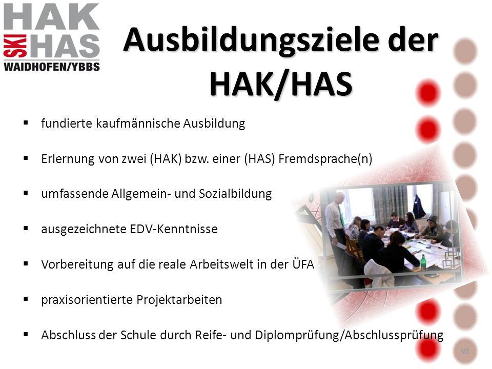 Ausbildungsziele der HAK/HAS