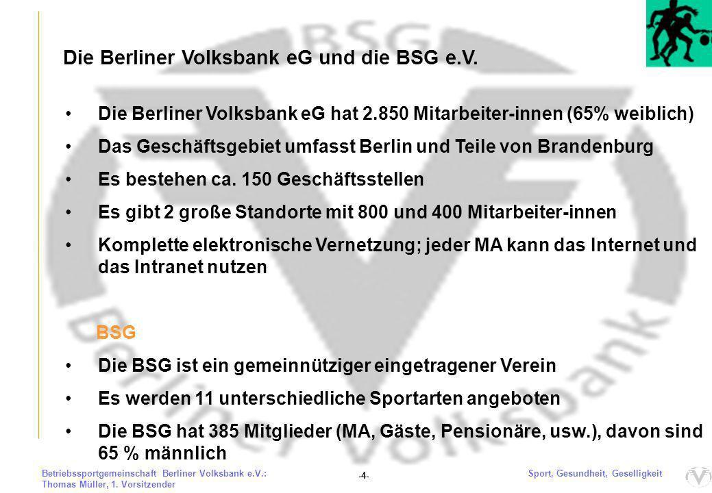 """Unsere """"alte BSG und der Wendezeitpunkt 2004"""