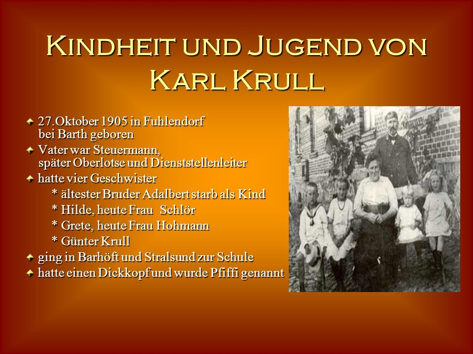 Kindheit und Jugend von Karl Krull