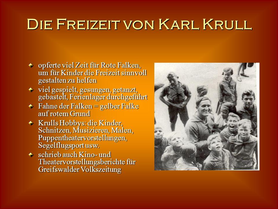 Die Freizeit von Karl Krull