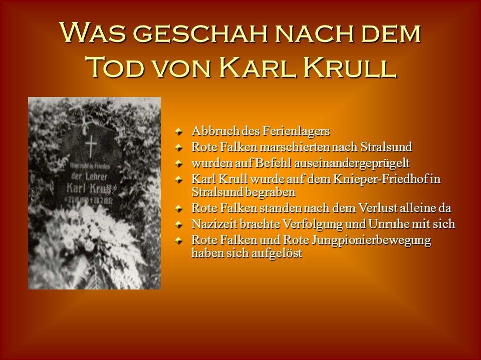 Was geschah nach dem Tod von Karl Krull