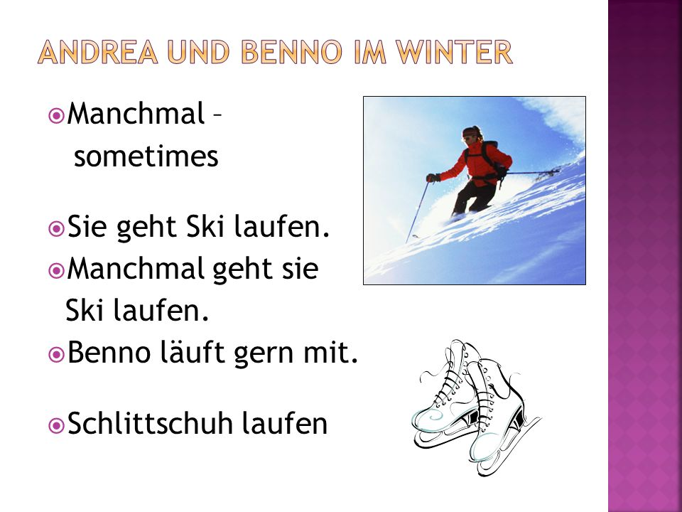 Andrea und Benno im Winter