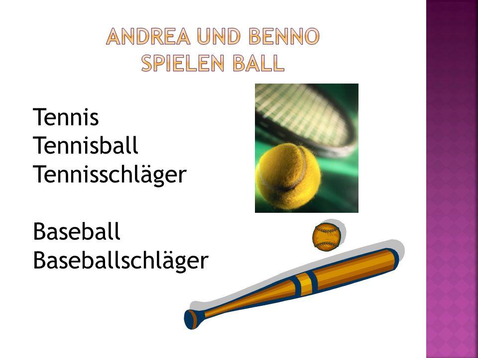 Andrea und Benno spielen ball