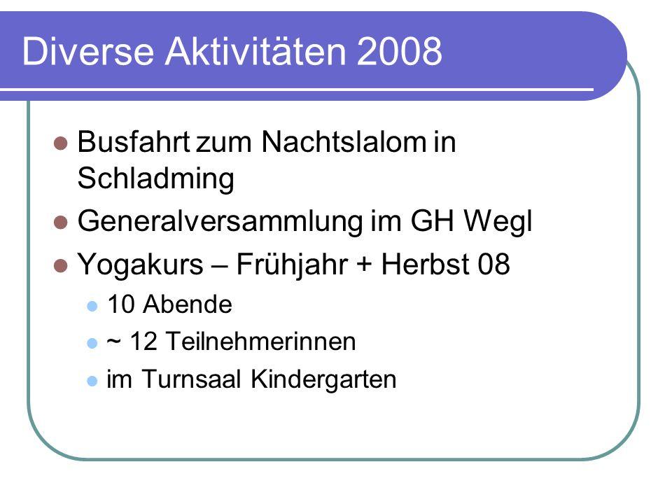 Diverse Aktivitäten 2008 Busfahrt zum Nachtslalom in Schladming