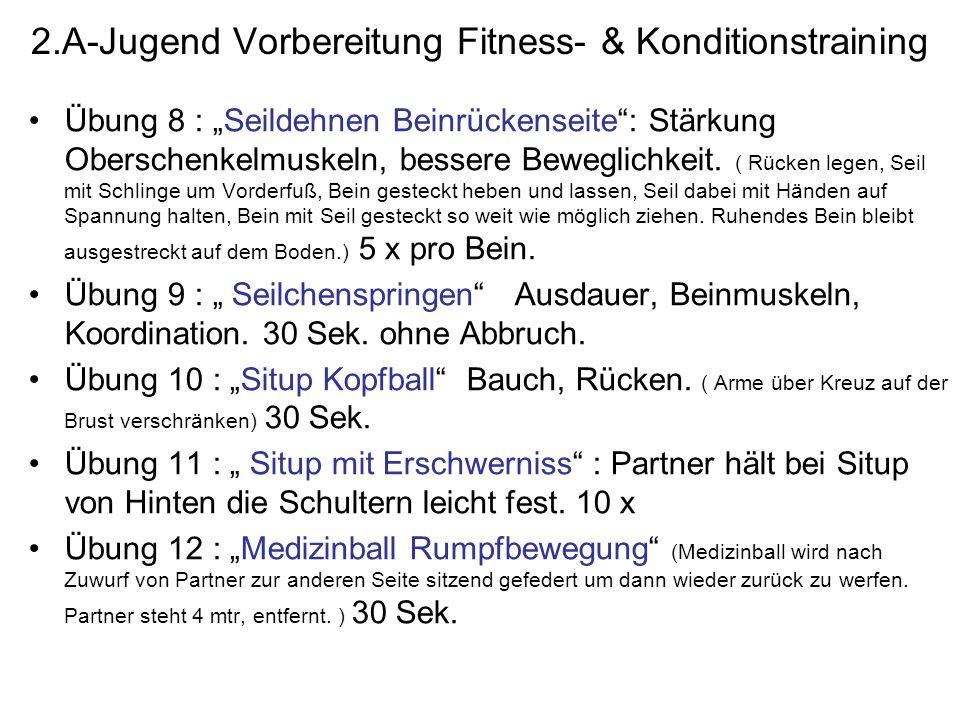 2.A-Jugend Vorbereitung Fitness- & Konditionstraining