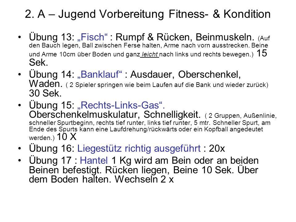 2. A – Jugend Vorbereitung Fitness- & Kondition