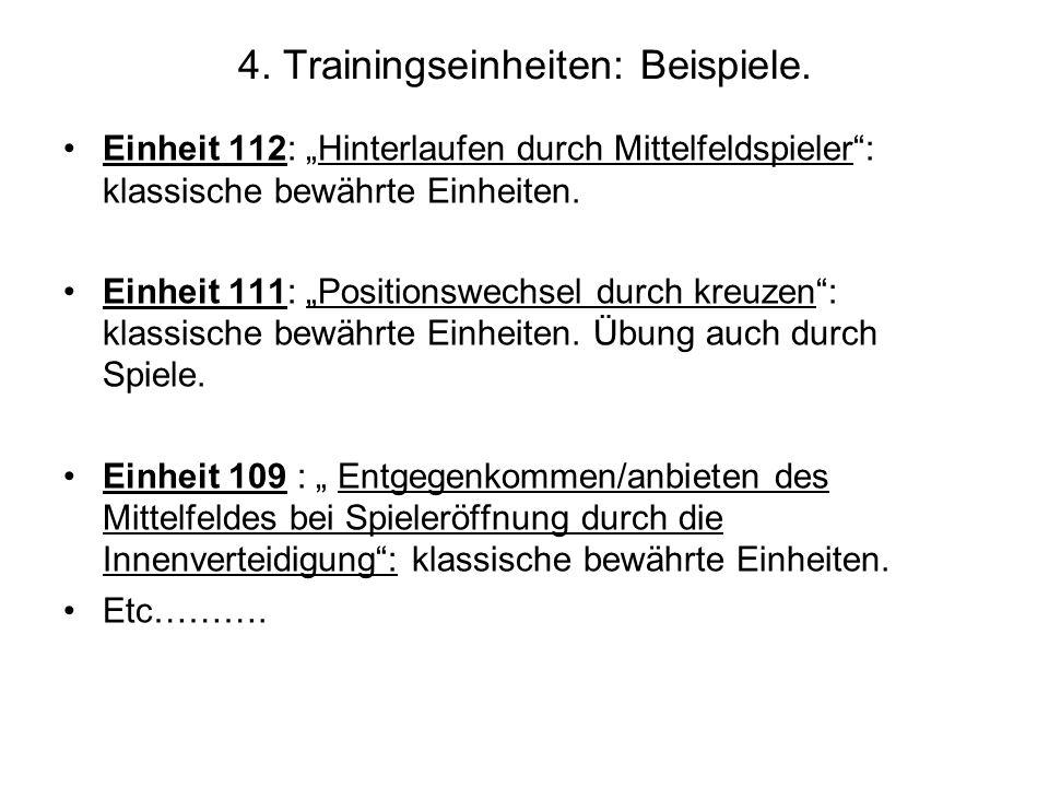 4. Trainingseinheiten: Beispiele.