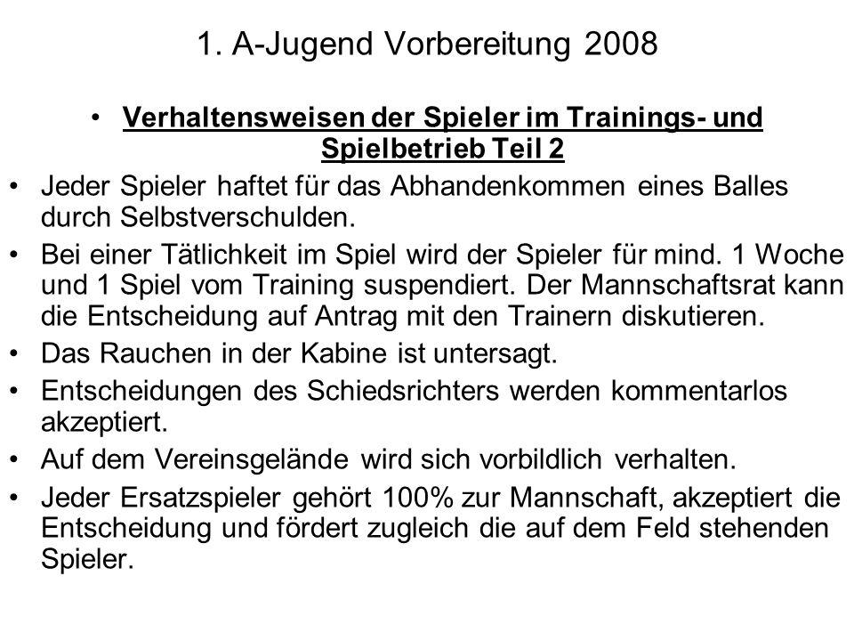 1. A-Jugend Vorbereitung 2008