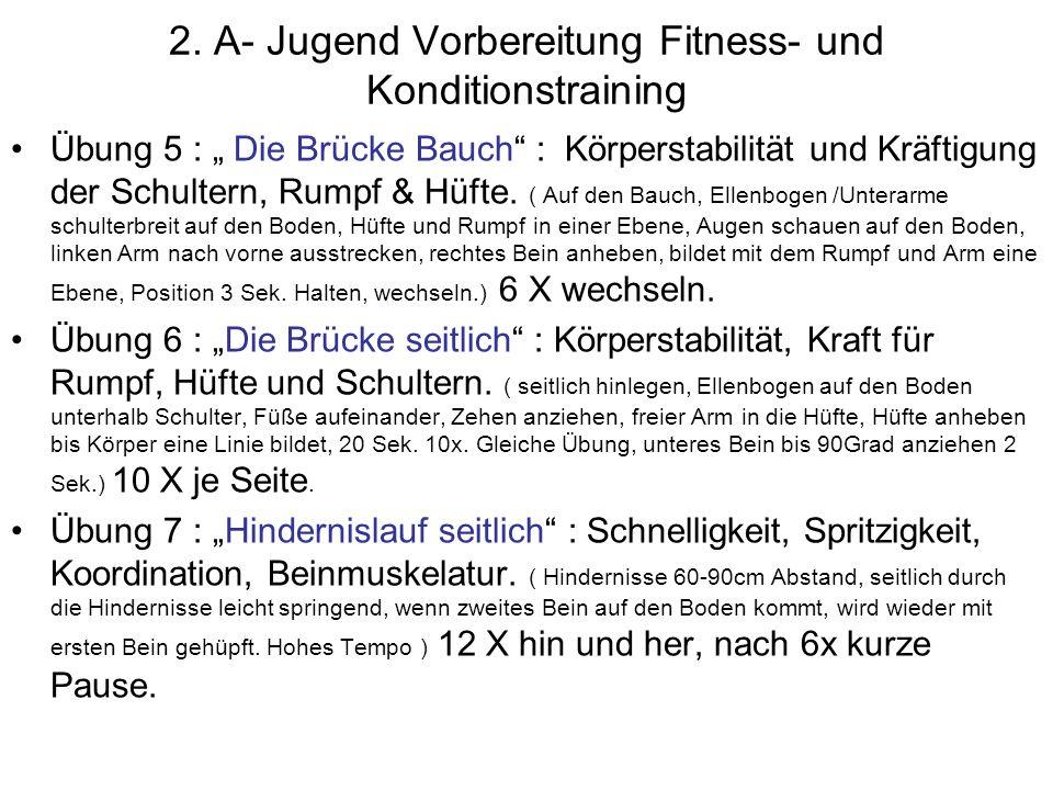 2. A- Jugend Vorbereitung Fitness- und Konditionstraining
